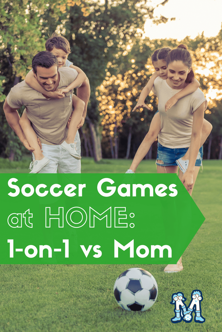 Outdoor fun with mom playing 1-on-1 soccer #soccer #mothersday @MightyKicks