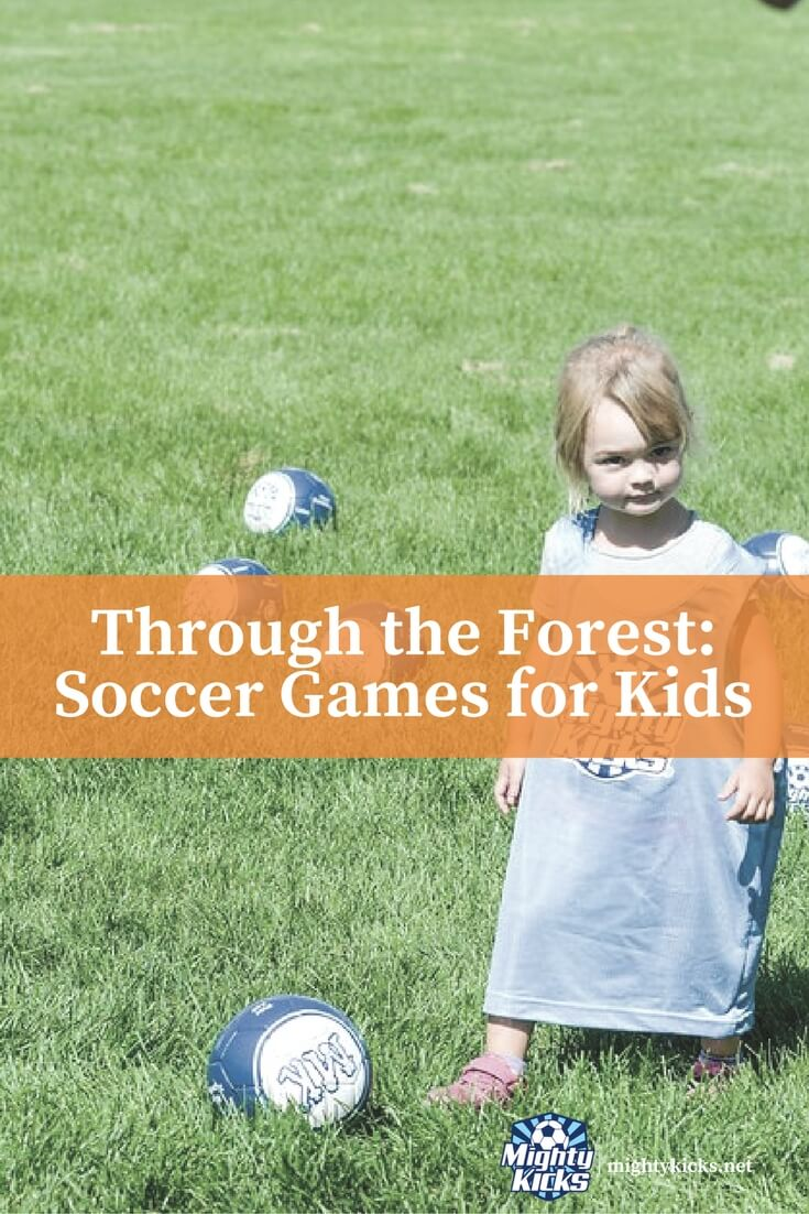 Try this fun at home soccer game and work on your directional dribbling skills! #soccer #raisingkids @MightyKicks